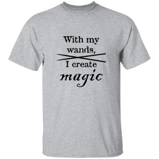 Knitting needles magic wands 5.3 oz t-shirt
