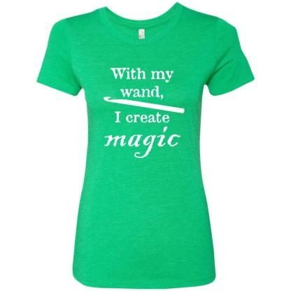 Crochet hook magic wand triblend t-shirt