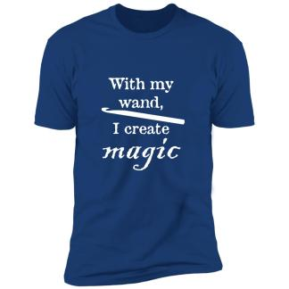 Crochet hook magic wand premium t-shirt