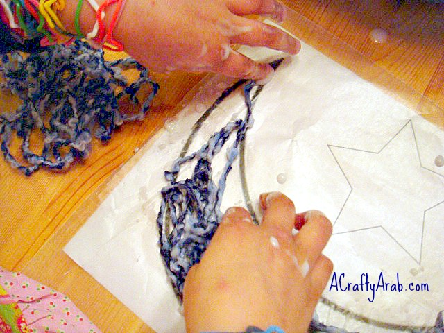 A Crafty Arab Moon And Star Yarn Art Tutorial