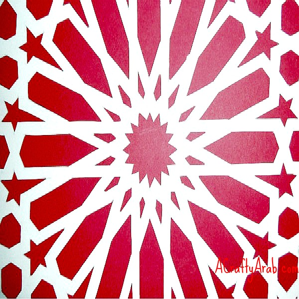 A Crafty Arab  Islamic Mosaic Paper Cut Tutorial