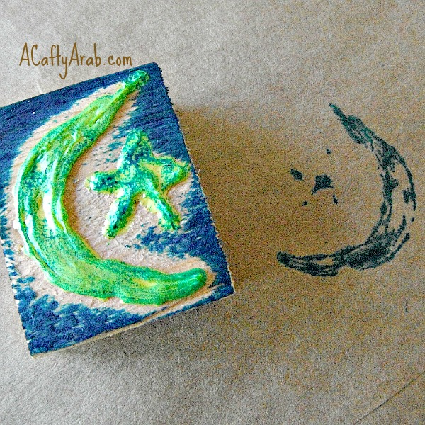 ACraftyaArab Moon and Star Stamp Tutorial