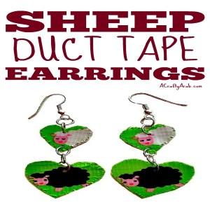 Duct Tape Eid Sheep Earrings
