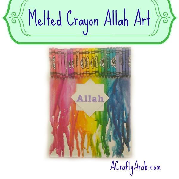 ACraftyArab Melted Crayon Allah Art