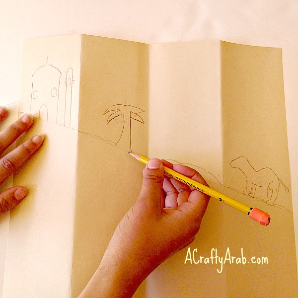 ACraftyArab Quad Eid Mubarak Card6