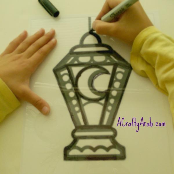 ACraftyArab Ramadan Lantern Foil Art Tutorial