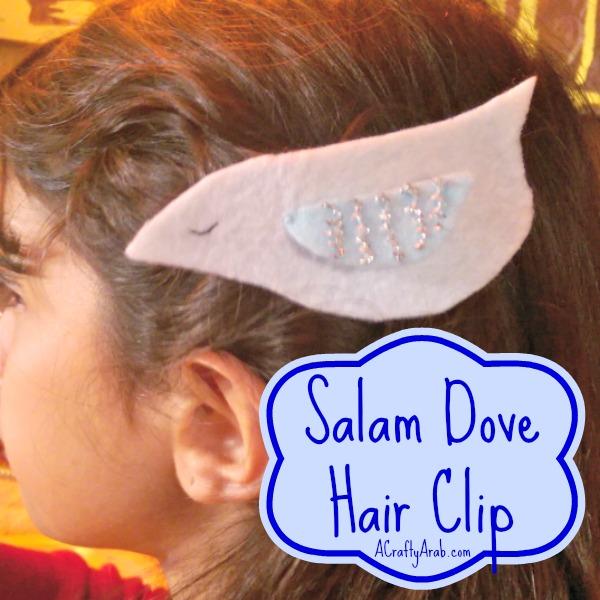 ACraftyArab Salam Dove Hair Clip