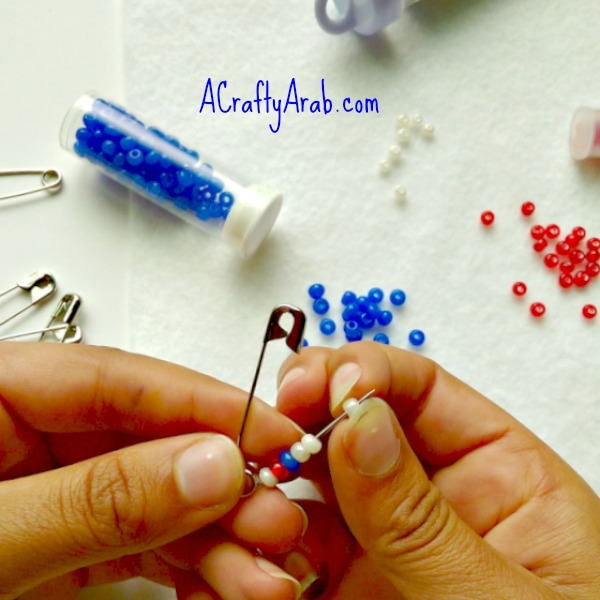 ACraftyArab Eid Beaded Safety Pin2