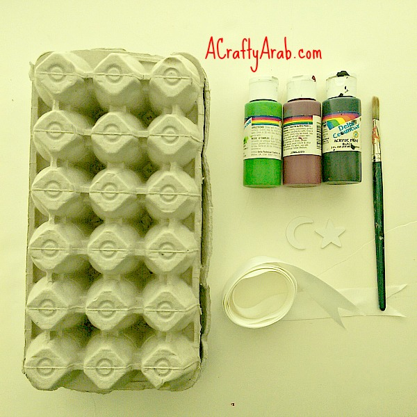 ACraftyArab Libyan Flag Egg Carton1
