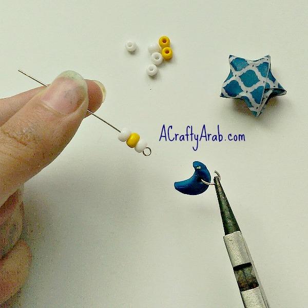 ACraftyArab Origami Star Eid Necklace13