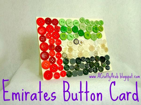 ACraftyArab Emirates Button Card
