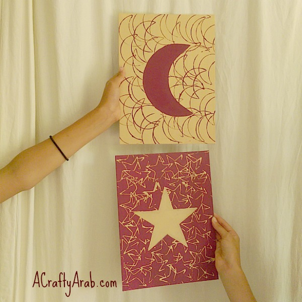 ACrafty Arab {Moon & Star} Cookie Cutter Canvas Art Tutorial