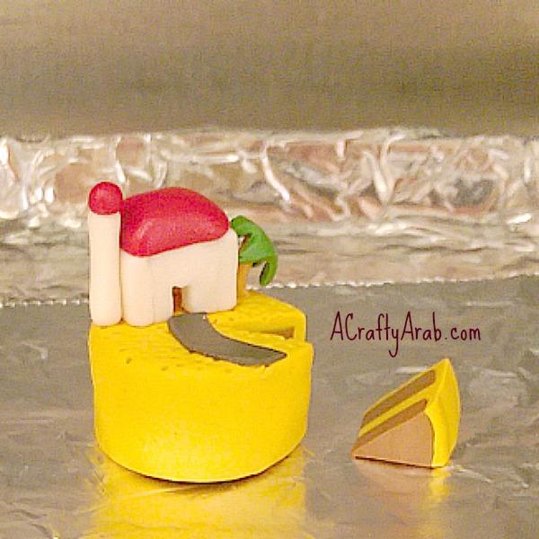 ACraftyArab Polymer Clay Cake Tutorial