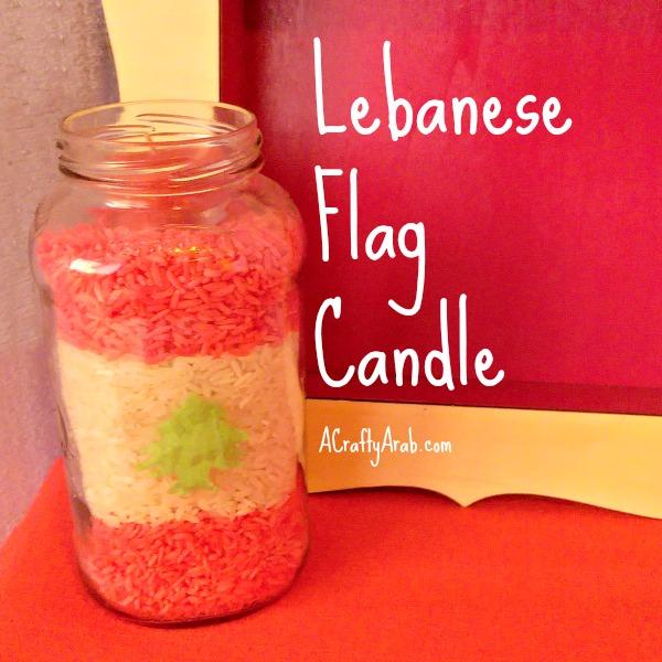 ACraftyArab Lebanese Flag Candle Tutorial