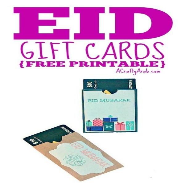 photograph regarding Ramadan Cards Printable named Eid Reward Playing cards Printable by way of A Cunning Arab