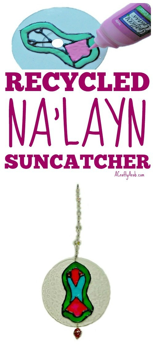 ACraftyArab Recycled Nalayn Suncatcher Tutorial Pin