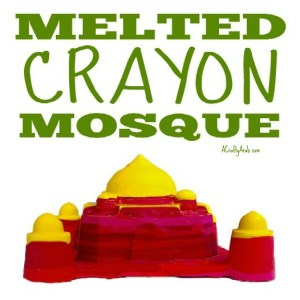 mosque crafts crayon children