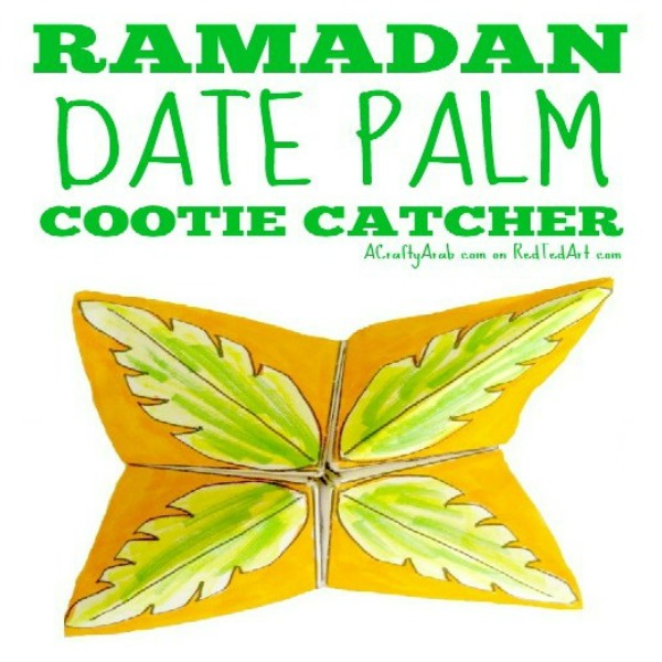 photograph about Cootie Catcher Printable referred to as Ramadan Day Palm Cootie Catcher Printable as a result of A Cunning Arab