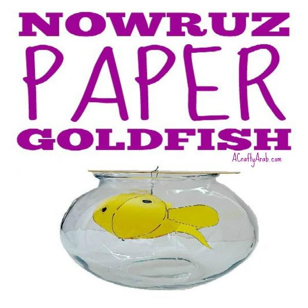 ACraftyArab Nowruz Paper Goldfish