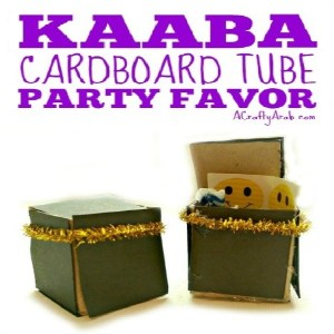 Cardboard Tube Kaaba Party Favor Childrens DIY Craft