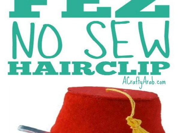 Fez No Sew Hairclip {Tutorial}