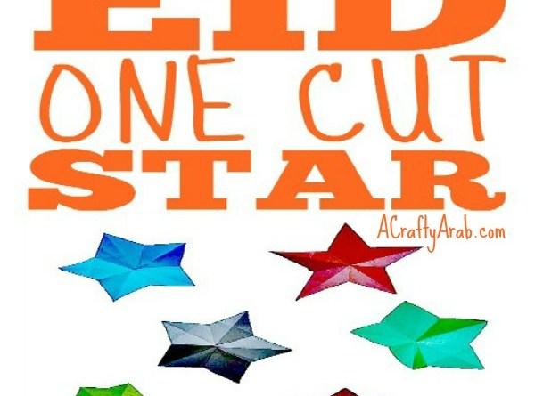 Eid One Cut Origami Star {Tutorial}