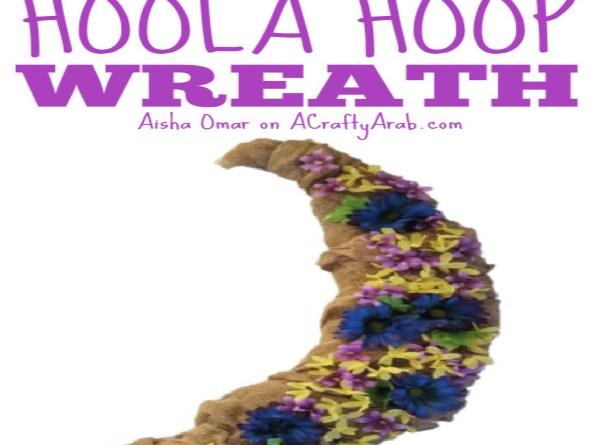 Ramadan Hoola Hoop Wreath {Tutorial} Guest Post
