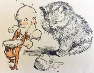 cartoon kewpie close 1928 warm ones loved hearts illustration handmade social please