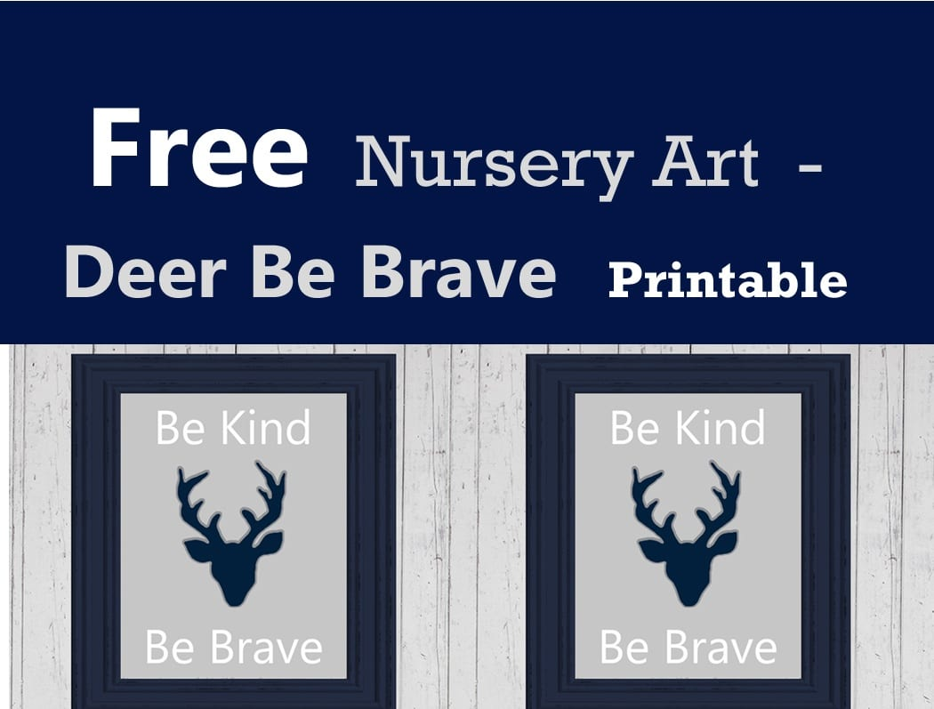 image about Free Printable Nursery Art known as Cost-free Deer Nursery Printable - Woodland Nursery Decor - A
