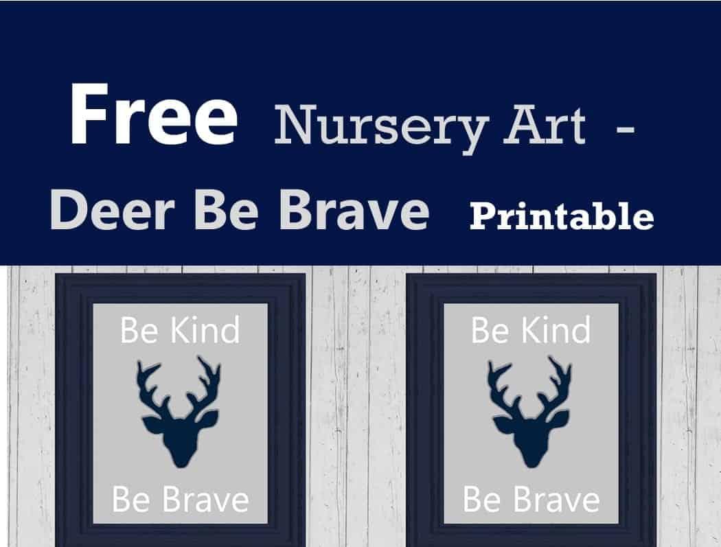 picture regarding Braves Printable Schedule named No cost Deer Nursery Printable - Woodland Nursery Decor - A
