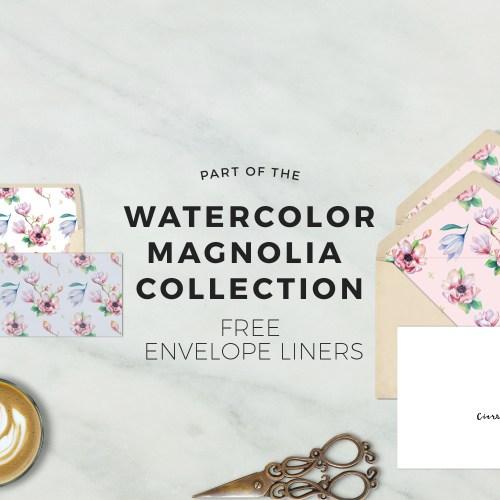 Free Magnolia Printable Envelope Liners