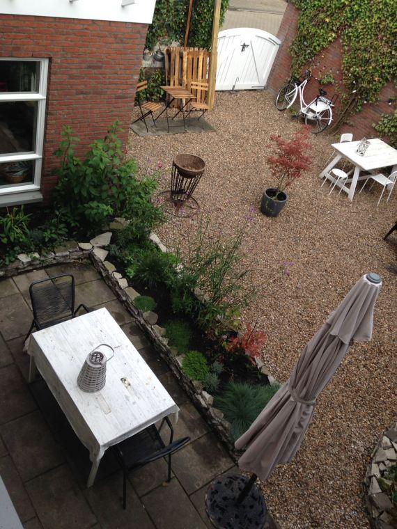 seaside garden in the suburbs - shells in the garden instead of pebbles or stones (26)