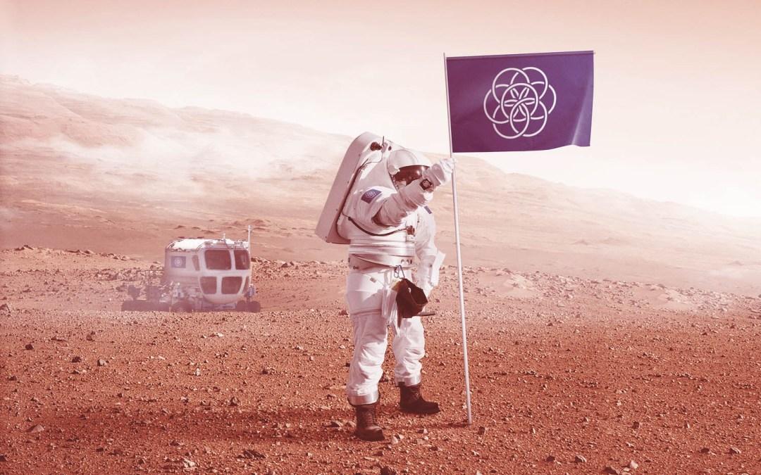 Uma proposta de bandeira para representar a Terra nas futuras missões espaciais