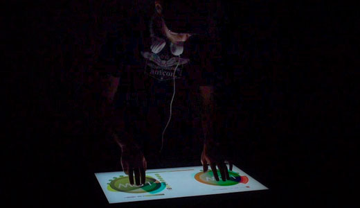 Multi Touch Light Table by Gregory Kaufman.