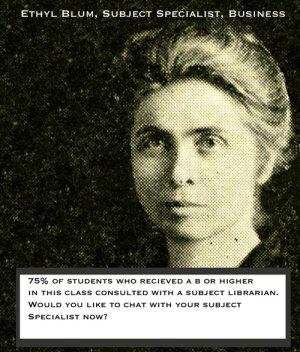 Ethyl Blum, librarian