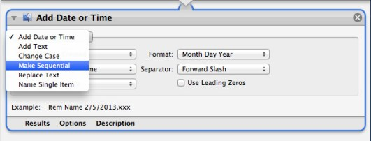Select Make Sequential Option