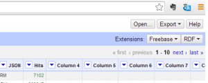 Screenshot of correctly installed RDF extension