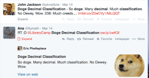 2 tweets about DDC