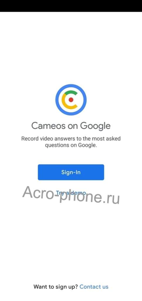 Google cameos Android