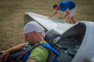 letzter Durchgang Unlimited, Gisbert kurz vor seinem letzten Flug - Copyright: Ruda Jung