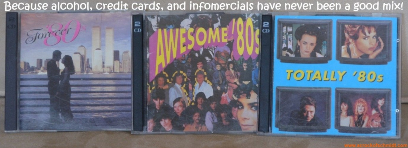 '80s CD Collection Alcohol and Credit Cards