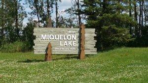 Miquelon Lake Provincial Park Sign