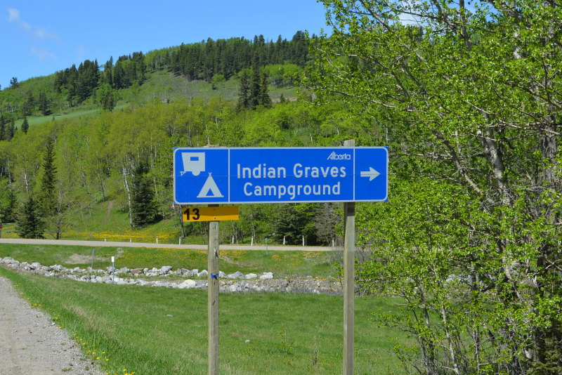 Indian Graves Campground Sign