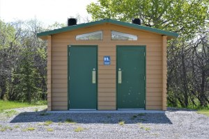 pit toilet facility at campground