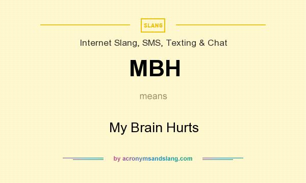 MBH - My Brain Hurts in Internet Slang SMS Texting ...