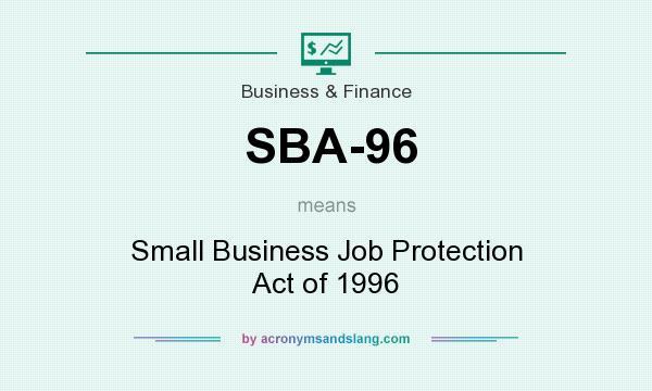 What does SBA-96 mean? - Definition of SBA-96 - SBA-96 ...