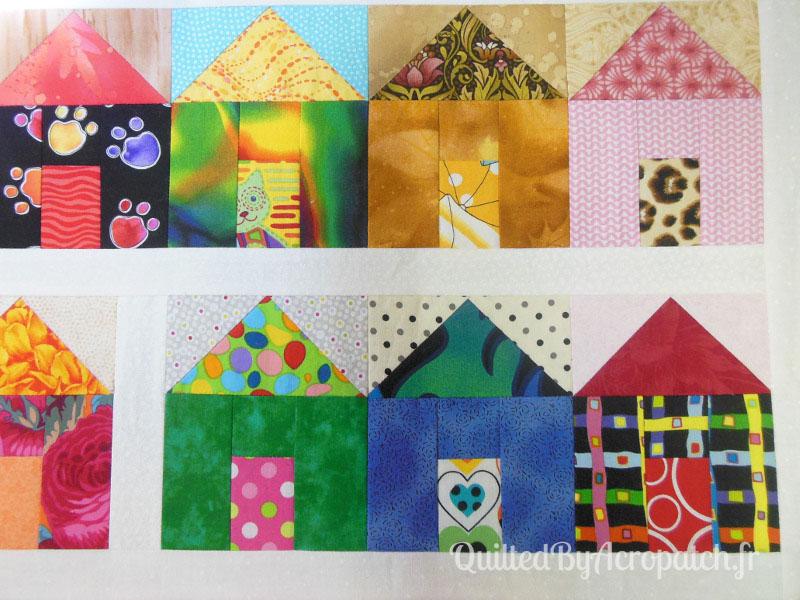 Acropatch-Scrappy_quilt-Motif-Quilting-Légo-fil-multicolore-avant-quiltage