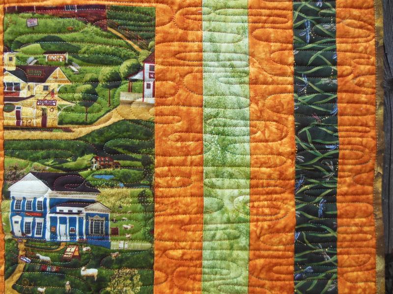 Acropatch-Motif-Quilting-ONDULATION-panneau-mural-fil-multicolore