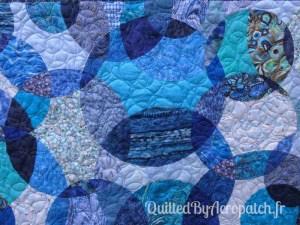 Acropatch-Panneau-mural-Motif-Quilting-LASSO-fil-dégradé-bleu-détails