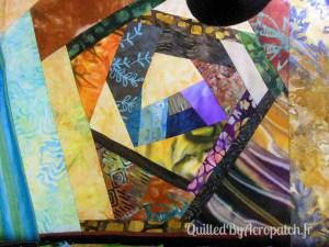 Acropatch-Protège-blocs-Motif-Quilting-OSCILLATION-fil multicolore-Avant le quiltage